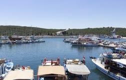 Sigacik flotta - Izmir - Turkiet royaltyfri bild