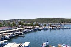 Sigacikmarine - Izmır - Turkije royalty-vrije stock foto