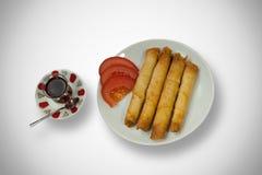Sigara Boregi, ειδικά τουρκικά τρόφιμα Ζύμες πούρων στοκ εικόνες