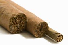 Sigaren, close-up Stock Afbeeldingen