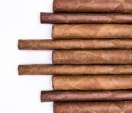 Sigaren op een rij stock foto