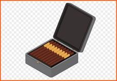 Sigarenkistjevector Stock Afbeeldingen