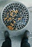 Sigaret-eind Stock Foto