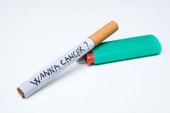 Sigaretta con il massaggio Fotografie Stock