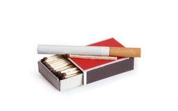 Sigaretta e corrispondenze Fotografia Stock