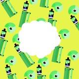 Sigaretta elettronica con il vape della nuvola Fotografia Stock Libera da Diritti