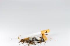 Sigaretta guasto Fotografia Stock