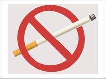 Sigaretta non fumatori Fotografie Stock Libere da Diritti