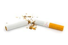 Sigaretta rotta Fotografia Stock Libera da Diritti