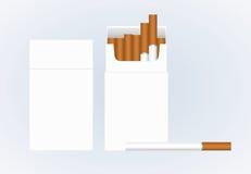 Sigaretta Scatola del pacchetto del pacchetto dello spazio in bianco di vettore di sigarette illustrazione vettoriale