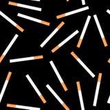 Sigaretta senza giunte su priorità bassa nera Fotografia Stock