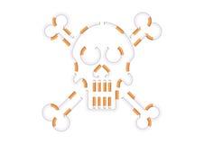 Sigarette di forma del cranio Fotografie Stock
