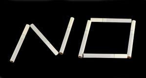Sigarette di fumo smesse Fotografia Stock