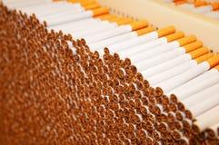 Sigarette di fumo in una pila Immagini Stock