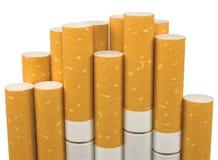Sigarette a macroistruzione isolate del filtrante del primo piano Fotografia Stock Libera da Diritti