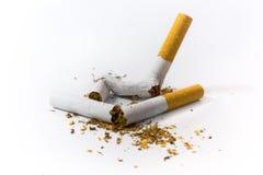 Sigarette rotte Fotografie Stock Libere da Diritti