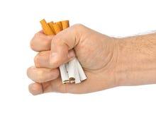 Sigarette rotte a disposizione Fotografia Stock Libera da Diritti