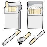 Sigaretten vector illustratie