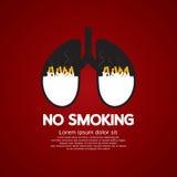 Sigaretten Ash In Lung-No Smoking Concept vector illustratie