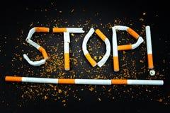 Sigaretten - Einde het roken motivatie stock foto's