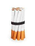 Sigaretten met een zwart lint worden gebonden dat Royalty-vrije Stock Afbeeldingen