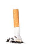 Sigaretuiteinde royalty-vrije stock afbeelding