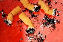 Sigaretuiteinden royalty-vrije stock foto's