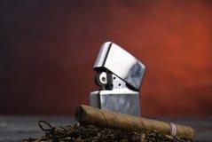 Sigaro e tabacco Fotografie Stock Libere da Diritti