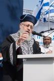 Sigd - An Ethiopian Jews Holyday. JERUSALEM - OCT 31: Yitzhak Yosef, Chief Sepharadi Rabbi speaks at the Sigd Celebration - Oct. 31, 2013 in Jerusalem, Israel Stock Photography