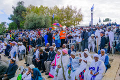 Sigd 2015 - holiday of the Ethiopian Jewry Stock Photos
