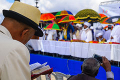Sigd 2015 - holiday of the Ethiopian Jewry Royalty Free Stock Photos