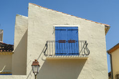 Sigean (Languedoc-Roussillon, France): window and balcony Stock Photo