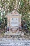 Siggiewi, Μάλτα - 10 Μαΐου 2017: Τάφος Busuttil Pawlu κοντά στην οδό Στοκ Εικόνα