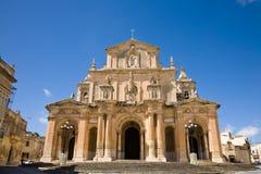 Siggiewi, Malta. The St. Nicholas church of Siggiewi, a village in Malta Stock Image