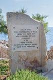 Siggiewi, Malta - 10. Mai 2017: Denkmal in Park Triq Lapsi stockfoto