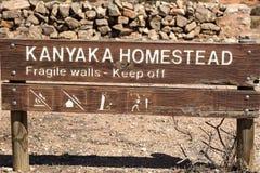 Sigh near abandon Kanyaka homestead. South Austr Stock Images