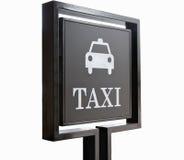 Sigh van de taxi Stock Afbeelding