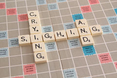 Sighing And Crying Tiles Royalty Free Stock Photos