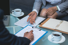 Sighing general contract agreement Royalty Free Stock Image