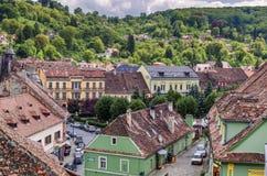 Sighisoara老镇,罗马尼亚 免版税库存图片