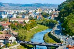 Sighisoara都市风景,罗马尼亚 库存图片