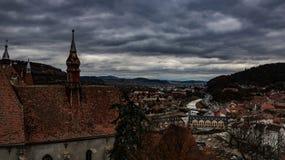 Sighisoara η τρομακτική πόλη της Ρουμανίας Στοκ Εικόνα