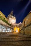 Sighisoara τή νύχτα Στοκ εικόνες με δικαίωμα ελεύθερης χρήσης