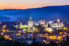 sighisoara της Ρουμανίας στοκ φωτογραφία με δικαίωμα ελεύθερης χρήσης