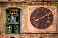 Sighisoara - башня часов Стоковые Изображения RF