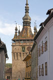 Sighisoara bell clock tower Royalty Free Stock Images