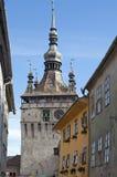 Sighisoara bell clock tower Royalty Free Stock Photos