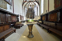 Sighisoara Cathedral Room Stock Photo