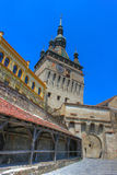 Sighisoara citadel, Romania. Sighisoara citadel, with the old clock tower in the back. HDR image Royalty Free Stock Image
