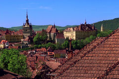 Sighisoara citadel skyline royalty free stock photo